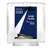 United States War Films Now Being Shown Shower Curtain