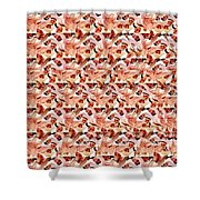 United We Win Stereogram Shower Curtain