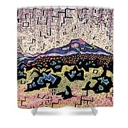 Unity Awareness In The Field Of Space And Time Shower Curtain