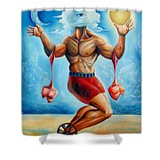 Universal Acrobat Shower Curtain