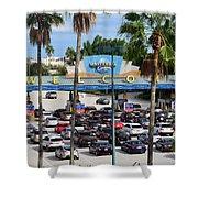 Universal Florida Parking Entrance Shower Curtain