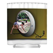 Universal Portal - Use Red-cyan 3d Glasses Shower Curtain