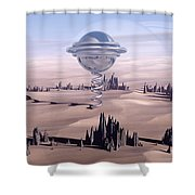Universal Time Shower Curtain