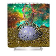 Universe Power Supply Shower Curtain