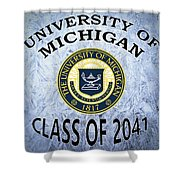 University Of Michigan Class Of 2041 Shower Curtain