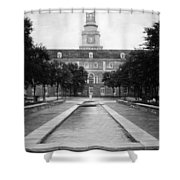 University Of North Texas Bw Shower Curtain