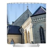 University Of Notre Dame Basilica  Shower Curtain