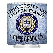 University Of Notre Dame Future Graduate Shower Curtain