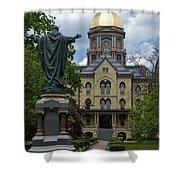 University Of Notre Dame Main Building Shower Curtain