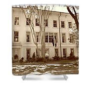University Of South Carolina President's Residence In Sepia Tones Shower Curtain