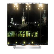 University Of Tampa Lights Shower Curtain
