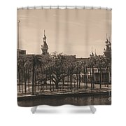 University Of Tampa With Old World Framing Shower Curtain