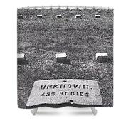 Unknown Bodies Shower Curtain