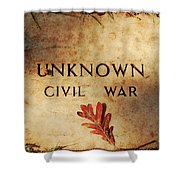 Unknown Civil War Shower Curtain
