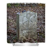 Unknown Confederate Soldier - Natchez Trace Shower Curtain