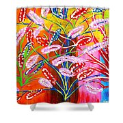 Unknown Flowers Shower Curtain