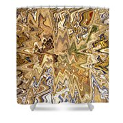 Unknown Paths Abstract Art Shower Curtain