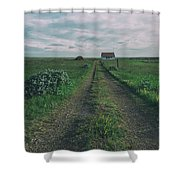 Unknown Road Shower Curtain