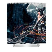Unleashing Bloodlust  Shower Curtain