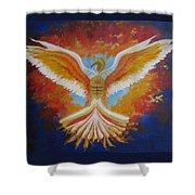 Unleashing The Holy Spirit Shower Curtain