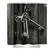 Unlocked - Keys And Opened Door Shower Curtain