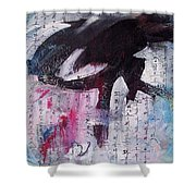 Unread Poem Black And White Paintings Shower Curtain
