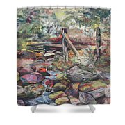 Unseated On Trout Brook Shower Curtain