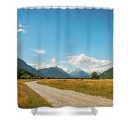 Unspoiled Alpine Scenery From Kinloch-glenorchy Road, Nz Shower Curtain