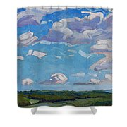 Unstable Over Burks Falls Shower Curtain