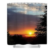 Until We Meet Again- Oregon Sunset Shower Curtain