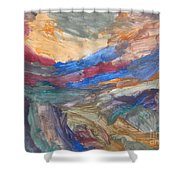 Untitled 107 Original Painting Shower Curtain