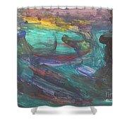 Untitled 118 Original Painting Shower Curtain