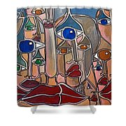 Untitled 83 Shower Curtain