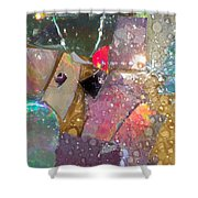 Untitled Abstract Prism Plates II Shower Curtain