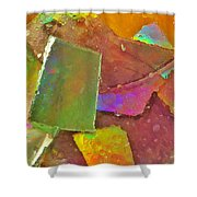 Untitled Abstract Prism Plates IIi Shower Curtain