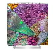 Untitled Abstract Prism Plates V Shower Curtain