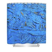 Untitled-weathered Wood Design In Blue Shower Curtain