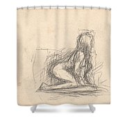 Untitled Figure Shower Curtain