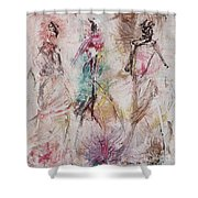Untitled Shower Curtain by Ikahl Beckford
