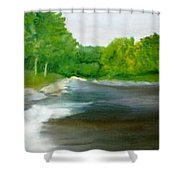Untitled Plein Aire Shower Curtain by Sheila Mashaw