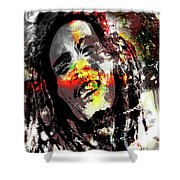 Untitled Reduction 3 Bob Marley Shower Curtain