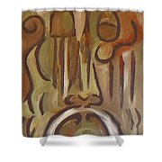 Untitled Siena Series Shower Curtain