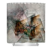 Untitled Study No. 705 Shower Curtain
