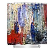 Untitled Abstract #5 Shower Curtain