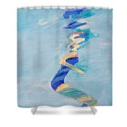 Untitled Swimmer Shower Curtain