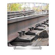 Unused Rail Shower Curtain