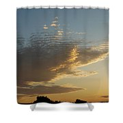 Unusual Cloud At Sunset Shower Curtain