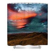 Unusual Clouds Catch Sunset Shower Curtain