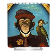 Unusual Pet Shower Curtain