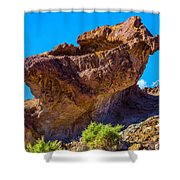 Unusual Rock California Shower Curtain